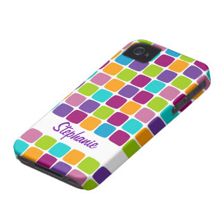 Colorful Squares Pattern Name Blackberry Bold Case