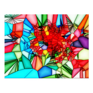 Colorful Stained glass abstract background Postcard
