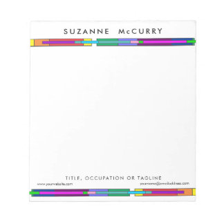 Colorful Stained Glass Design Notepad