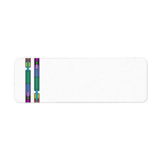Colorful Stained Glass Design Return Address Label