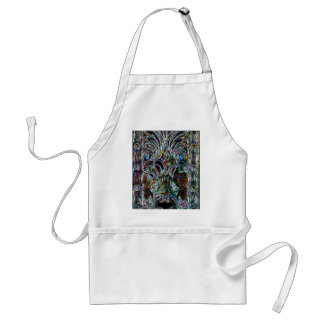 Colorful Stained Glass  Effect Pop Art Design Standard Apron