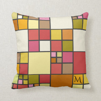 Colorful Stained Glass Mosaic Pattern Pillow