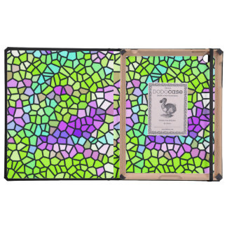 Colorful stained glass pattern iPad case