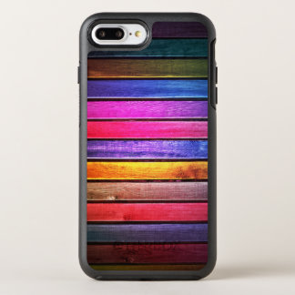 Colorful Stained Wood Texture OtterBox Symmetry iPhone 8 Plus/7 Plus Case