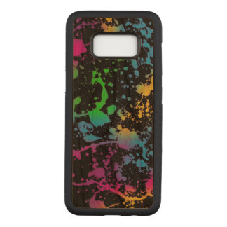 colorful stains spots art carved samsung galaxy s8 case