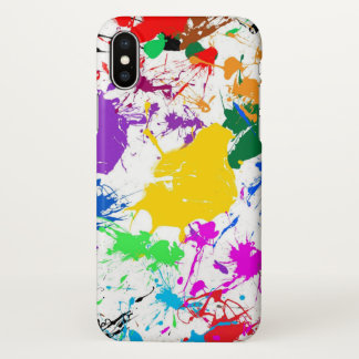 colorful stains, spots iPhone x case