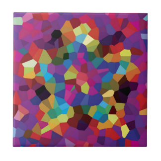 Colorful Star Mosaic Small Square Tile