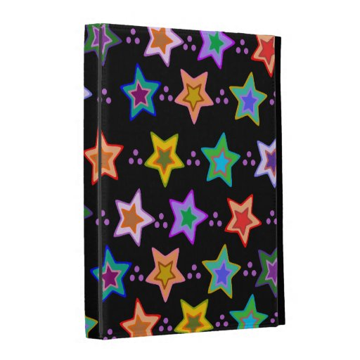 Colorful star pattern iPad folio cases
