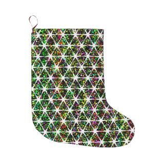 Colorful Star Pattern Large Christmas Stocking