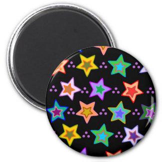 Colorful star pattern fridge magnet