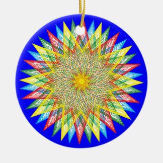 Colorful Star Round Ceramic Decoration
