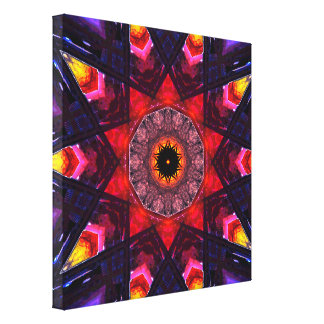 Colorful Star Shapes Canvas Print