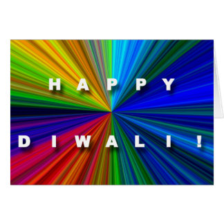 Colorful Starburst Diwali Card