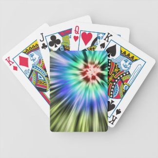 Colorful Starburst Tie Dye Bicycle Playing Cards