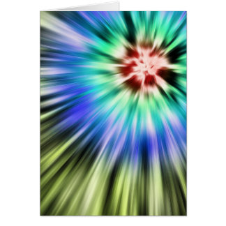 Colorful Starburst Tie Dye Card