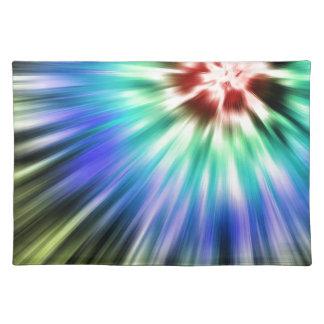 Colorful Starburst Tie Dye Placemat
