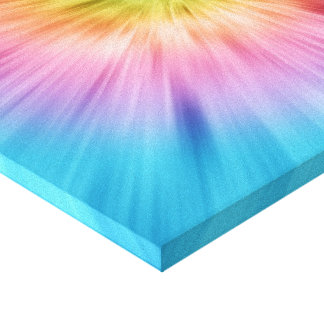 Colorful Starburst Tie Dye Stretched Canvas Prints