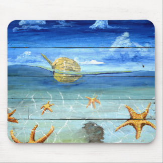 Colorful Starfish Sky Mouse Pad For Home & Office