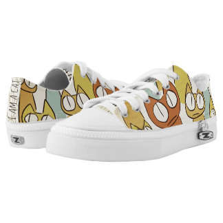 Colorful Staring lot Cats Low Tops