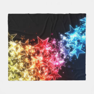 Colorful Stars Fleece Blanket