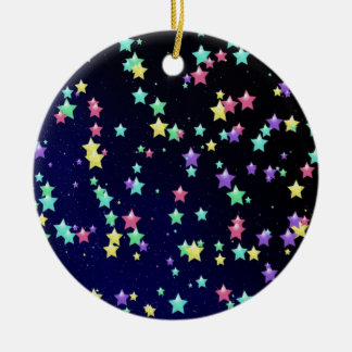 Colorful stars in the sky illustration ornament