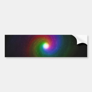 Colorful Stars Swirling Towards a Bright Center Bumper Sticker