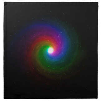 Colorful Stars Swirling Towards a Bright Center Napkin