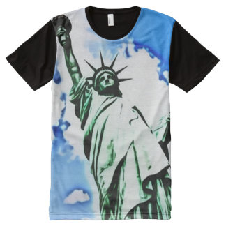Colorful Statue of Liberty Art All-Over Print T-Shirt