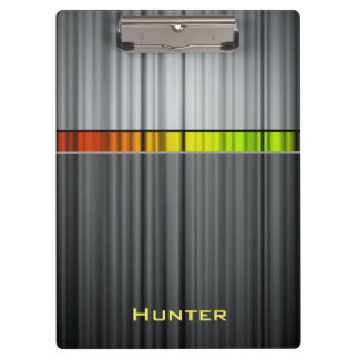 Colorful Steel Ripples Clipboard
