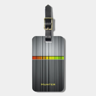 Colorful Steel Ripples Luggage Tag