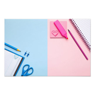Colorful Sticky Notes on Pastel Background Photograph
