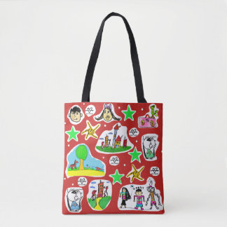 Colorful stock market Child loves drawing! Tote Bag