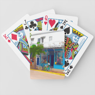 Colorful Stores in Key West Bicycle Playing Cards