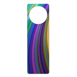 Colorful storm door knob hanger