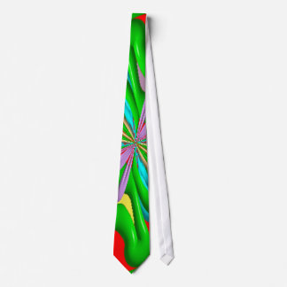 Colorful strange pattern tie