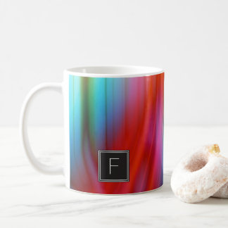 Colorful Streaked Abstract Monogram | Mug