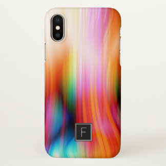 Colorful Streaked Abstract Monogram | Phone Case
