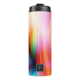Colorful Streaked Abstract Monogram   Tumbler