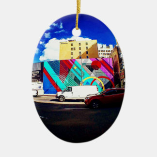 Colorful Street Art Ceramic Ornament