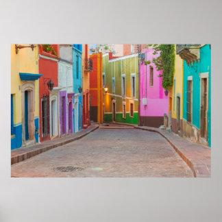 Colorful street scene poster