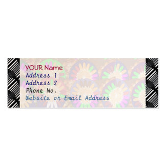 Colorful Stripe Border Grace B&w Template Pack Of Skinny Business Cards