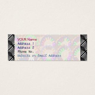 Colorful Stripe Border Grace B&w Template Mini Business Card