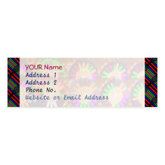 Colorful Stripe Border Grace Energy Template Pack Of Skinny Business Cards