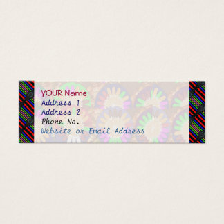 Colorful Stripe Border Grace Energy Template Mini Business Card