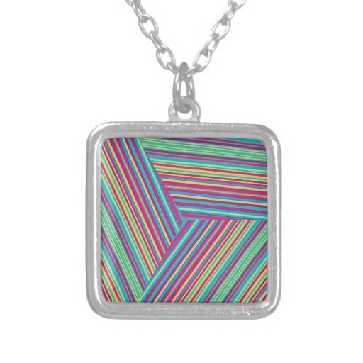 Colorful Stripe Pattern Necklace