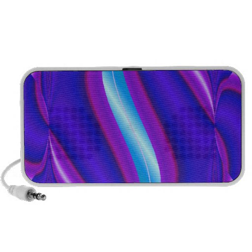 colorful stripe iPod speakers