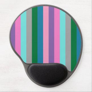 Colorful striped pattern gel mousepad