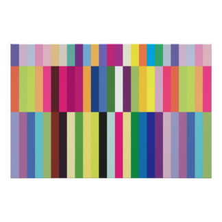 Colorful Striped Pattern Poster