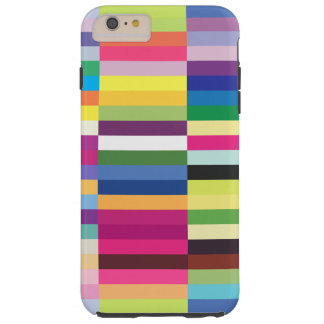 Colorful Striped Pattern Tough iPhone 6 Plus Case