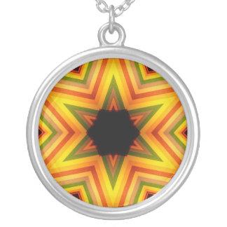 Colorful striped star design pendant